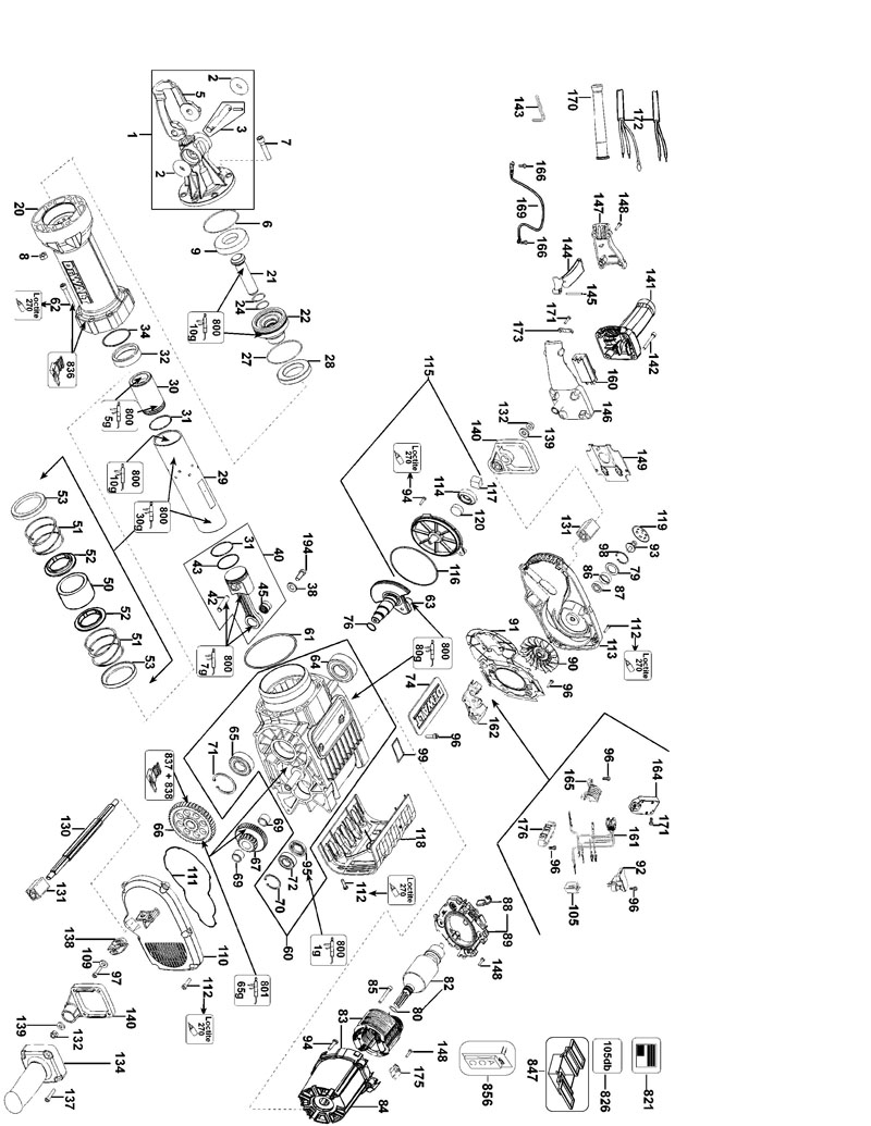 D25980 TYPE 1 parts for d25980 type 1 powerhouse distributing dewalt d25980 wiring diagram at cita.asia