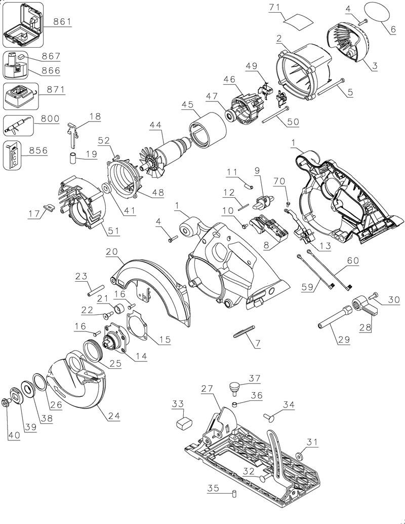 Bosch Circular Saw Parts Diagram | Cardbk co