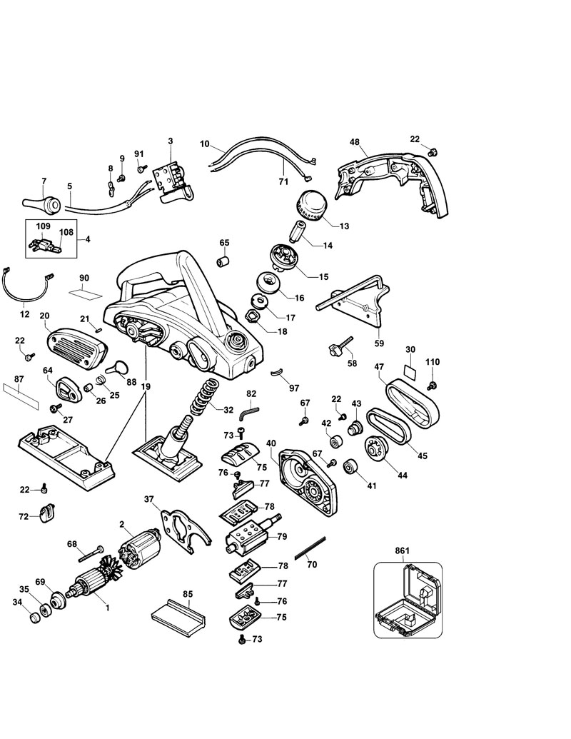 parts for dw680 type 3 powerhouse distributing rh powerhousetoolparts com dewalt dw680 owners manual