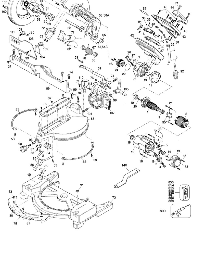 Parts For Dw705 Type 1 Powerhouse Distributing