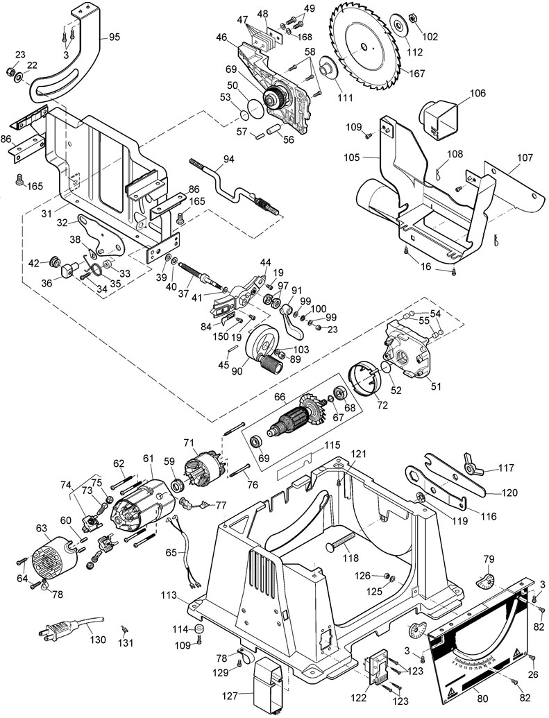 parts for dw744 type 2 powerhouse distributing tool diagram