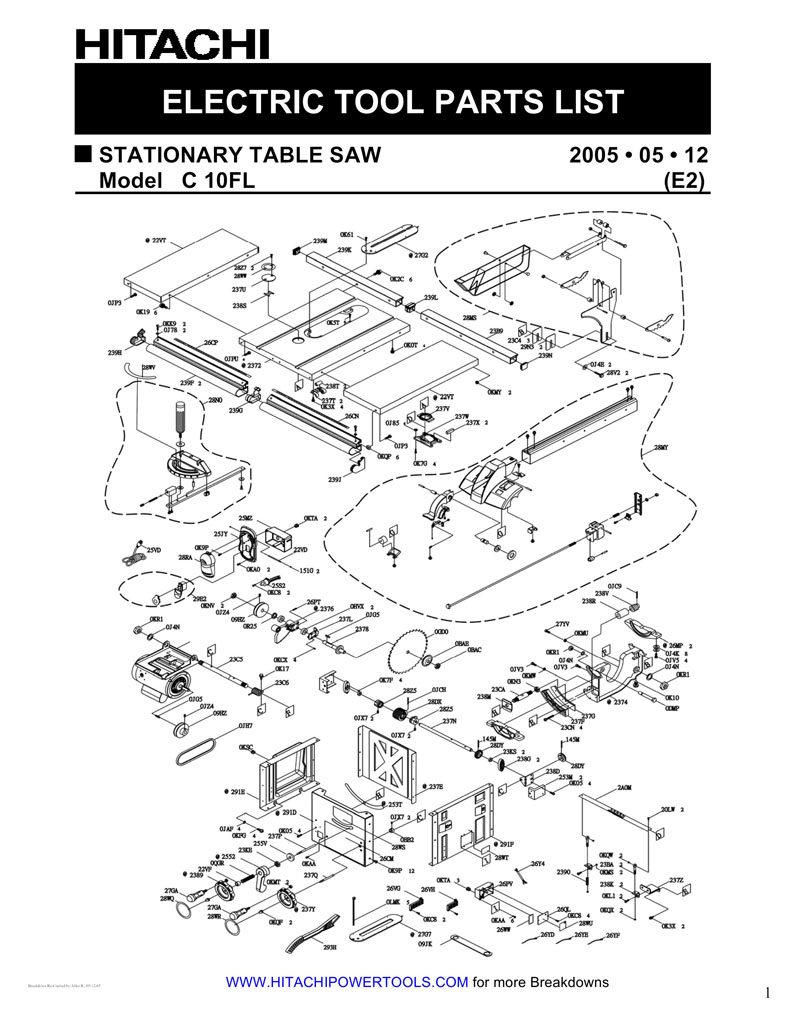 Parts for c10fl powerhouse distributing tool diagram keyboard keysfo Gallery