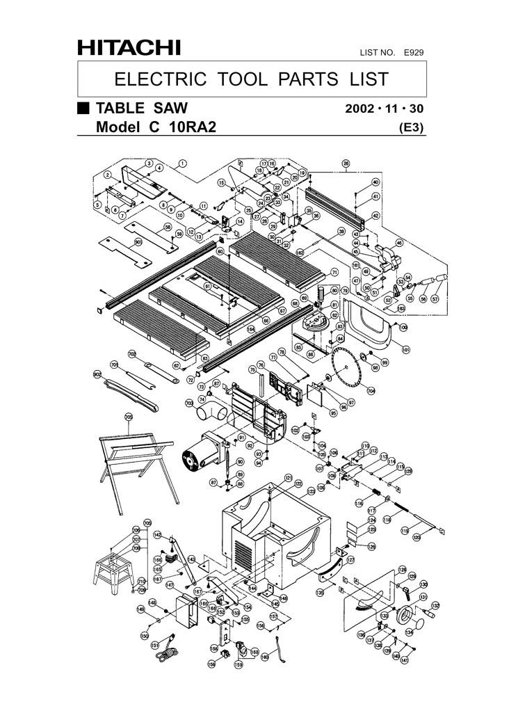 Parts for c10ra2 powerhouse distributing tool diagram keyboard keysfo Choice Image
