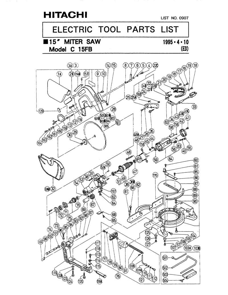 Hitachi 988901 Lever C15Fb Replacement Part