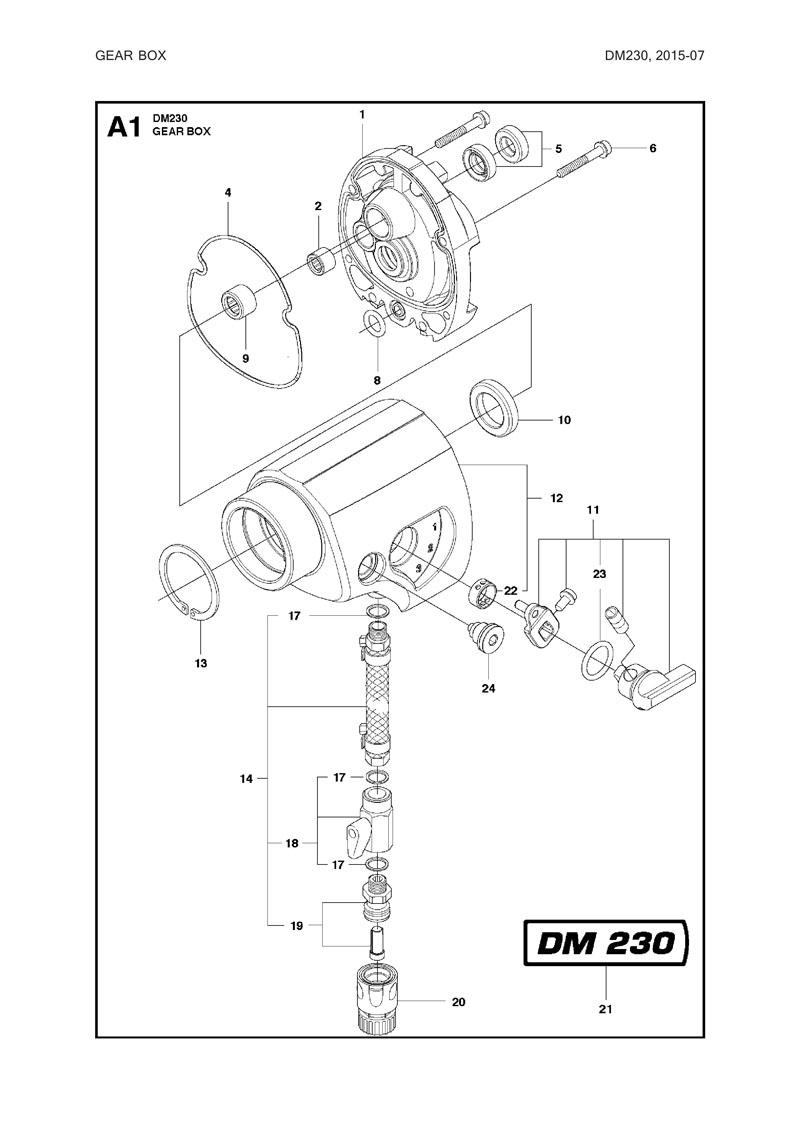 Parts For Dm230 2015 07 Powerhouse Distributing Husqvarna Wiring Diagram Tool