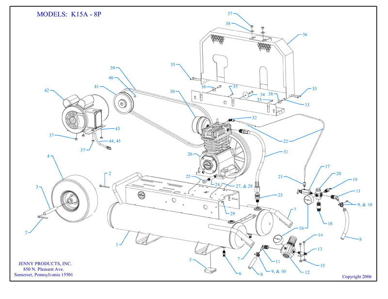 Parts For K15a 8p