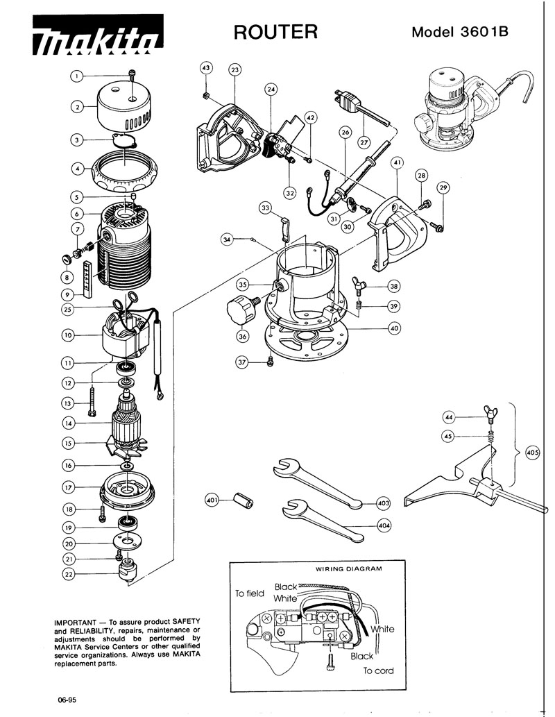 Parts for 3601B   Powerhouse Distributing