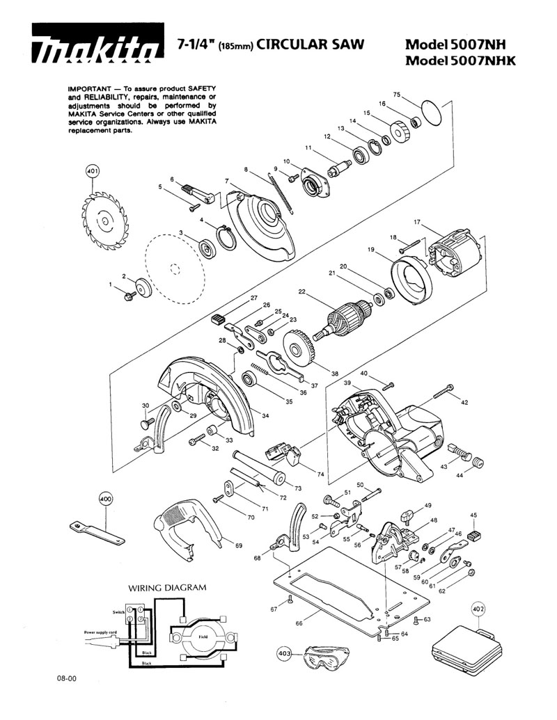 Parts for 5007NH | Powerhouse Distributing