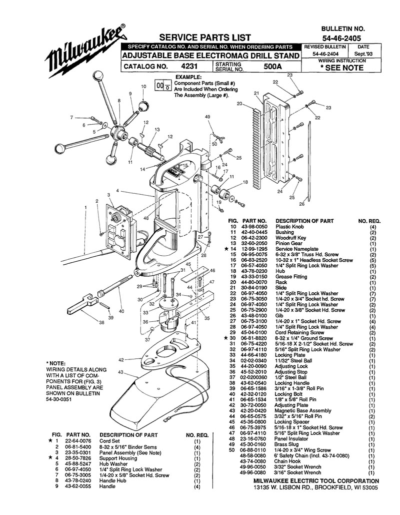 Parts For 4231 Ser 500a Powerhouse Distributing Re Q Wiring Diagram Tool