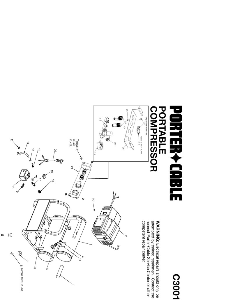 Parts For C3001 Type 01 Powerhouse Distributing Porter Cable Compressor Wiring Diagram Tool