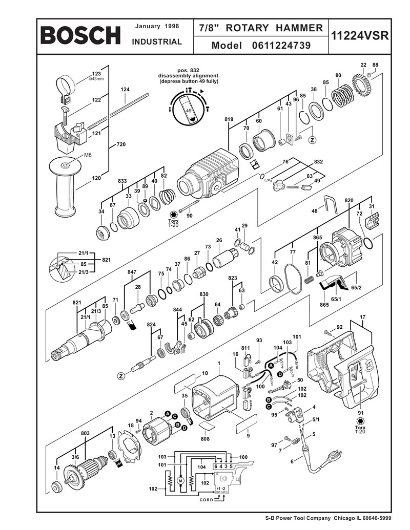 bosch 11224vsr wiring diagram   29 wiring diagram images