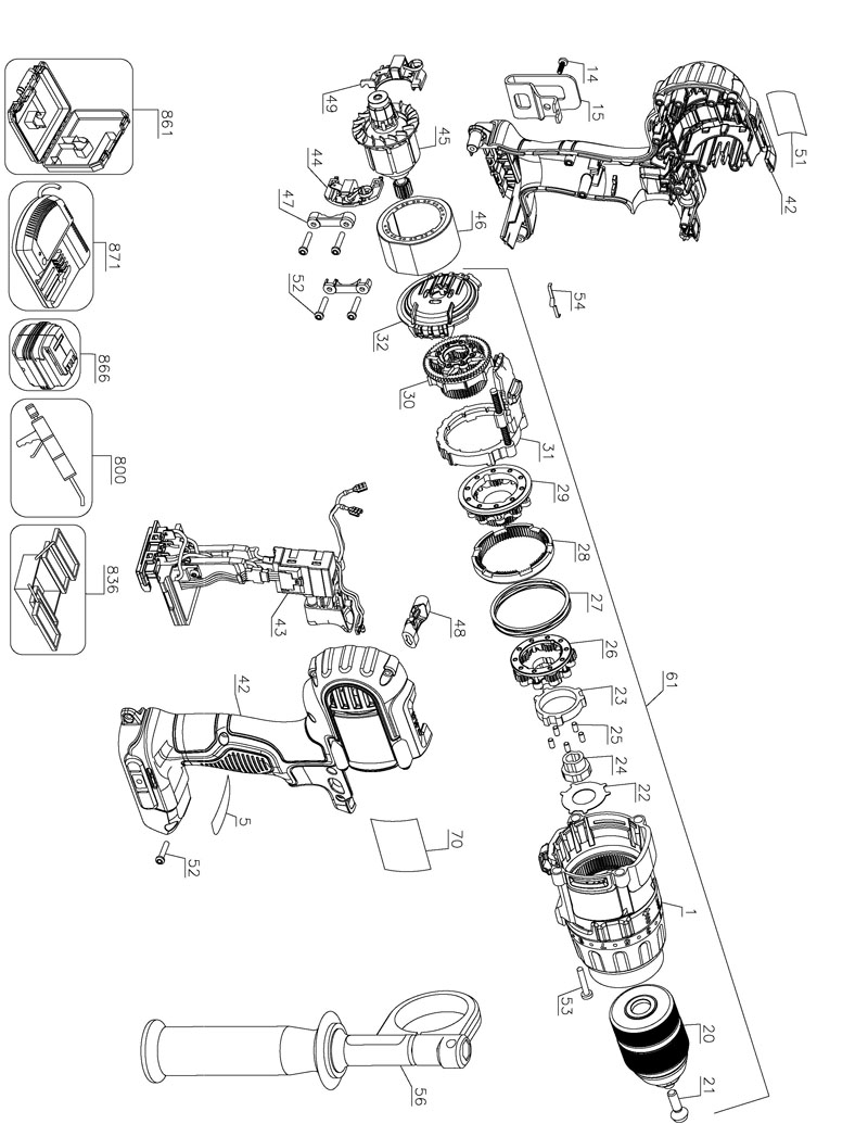 parts for dcd980 type 1