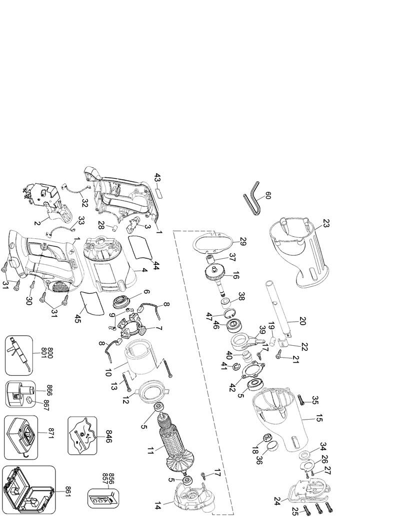 switch wiring diagram for de walt drill de walt dw625