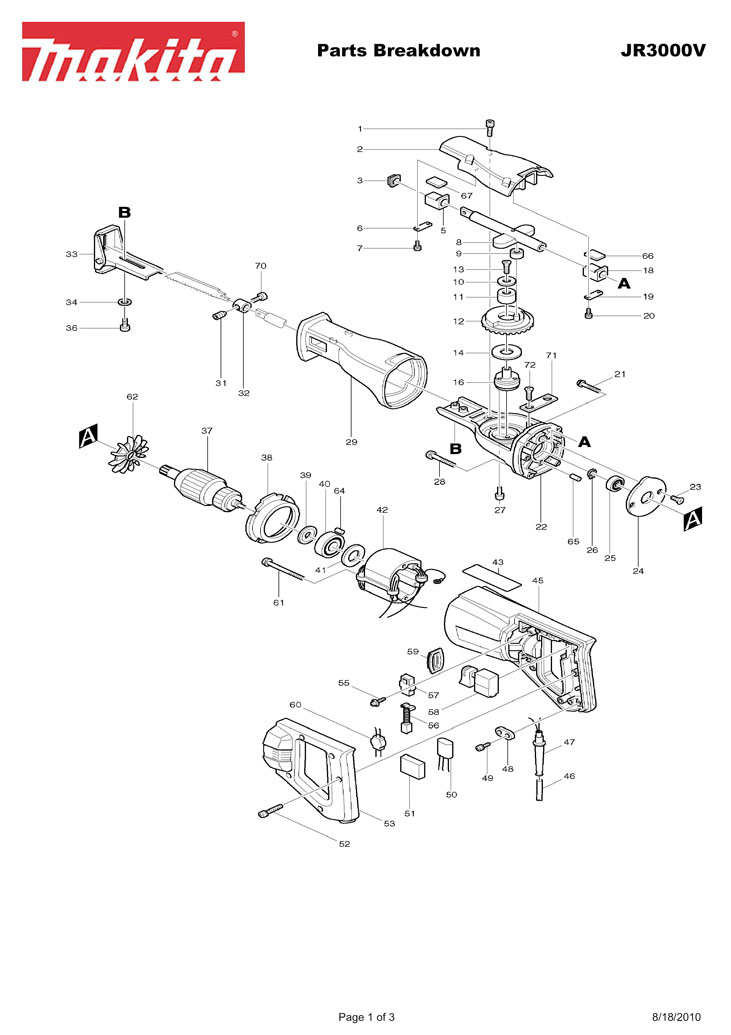 JR3000V makita jr3000v switch wiring diagram parts diagram \u2022 45 63 74 91 Basic Electrical Wiring Diagrams at honlapkeszites.co