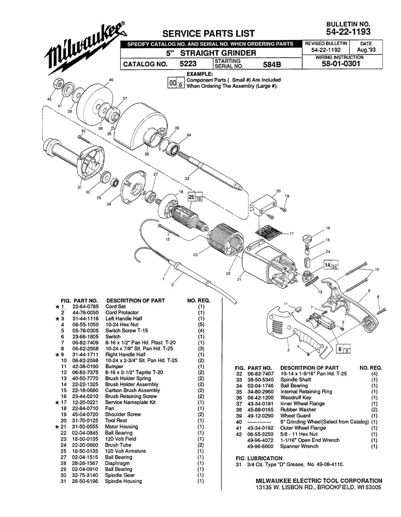 parts for 5223 ser 584b powerhouse distributing