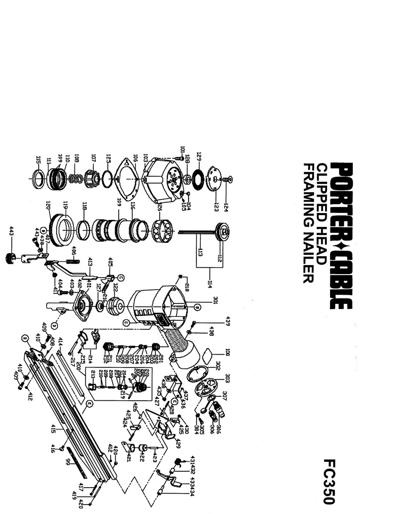 porter cable fc350 schematic